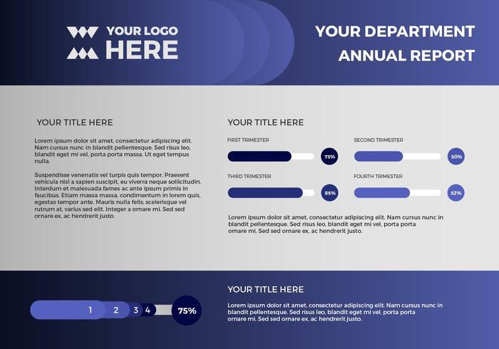 Free Annual Report Vector Presentation 13