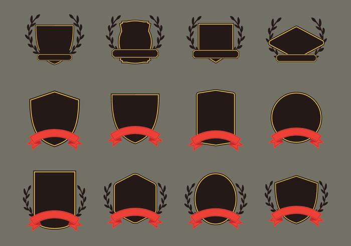 Blason Vorlage Icon Set