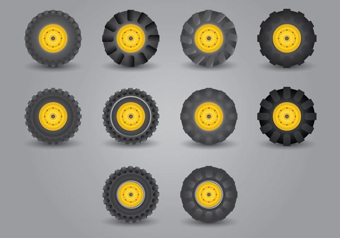 Traktor Tire Icon Set