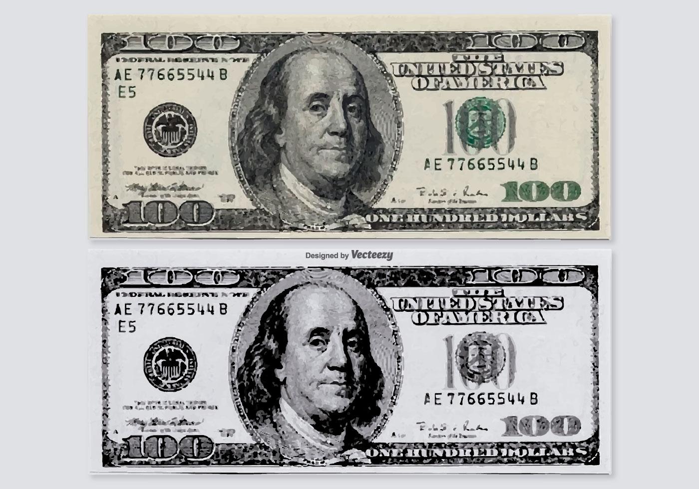 Hundred Dollar Vector Bills - Download Free Vector Art, Stock ...
