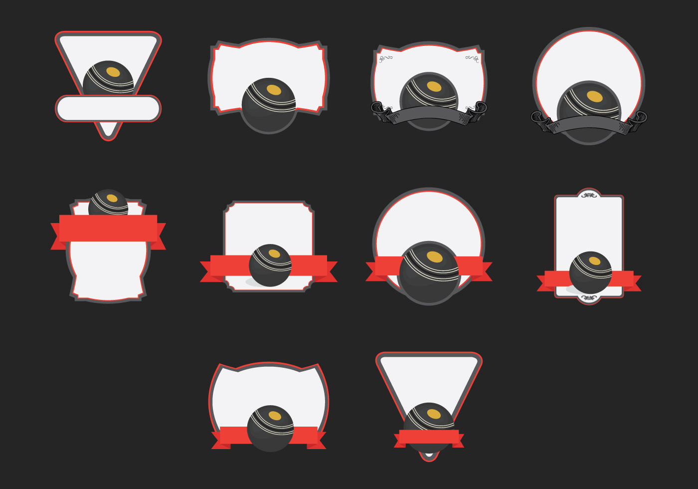 lawn bowls template icon set download free vector art stock