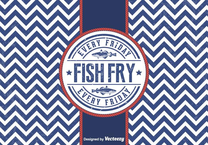 Free Vector Friday Fish Fry Badge