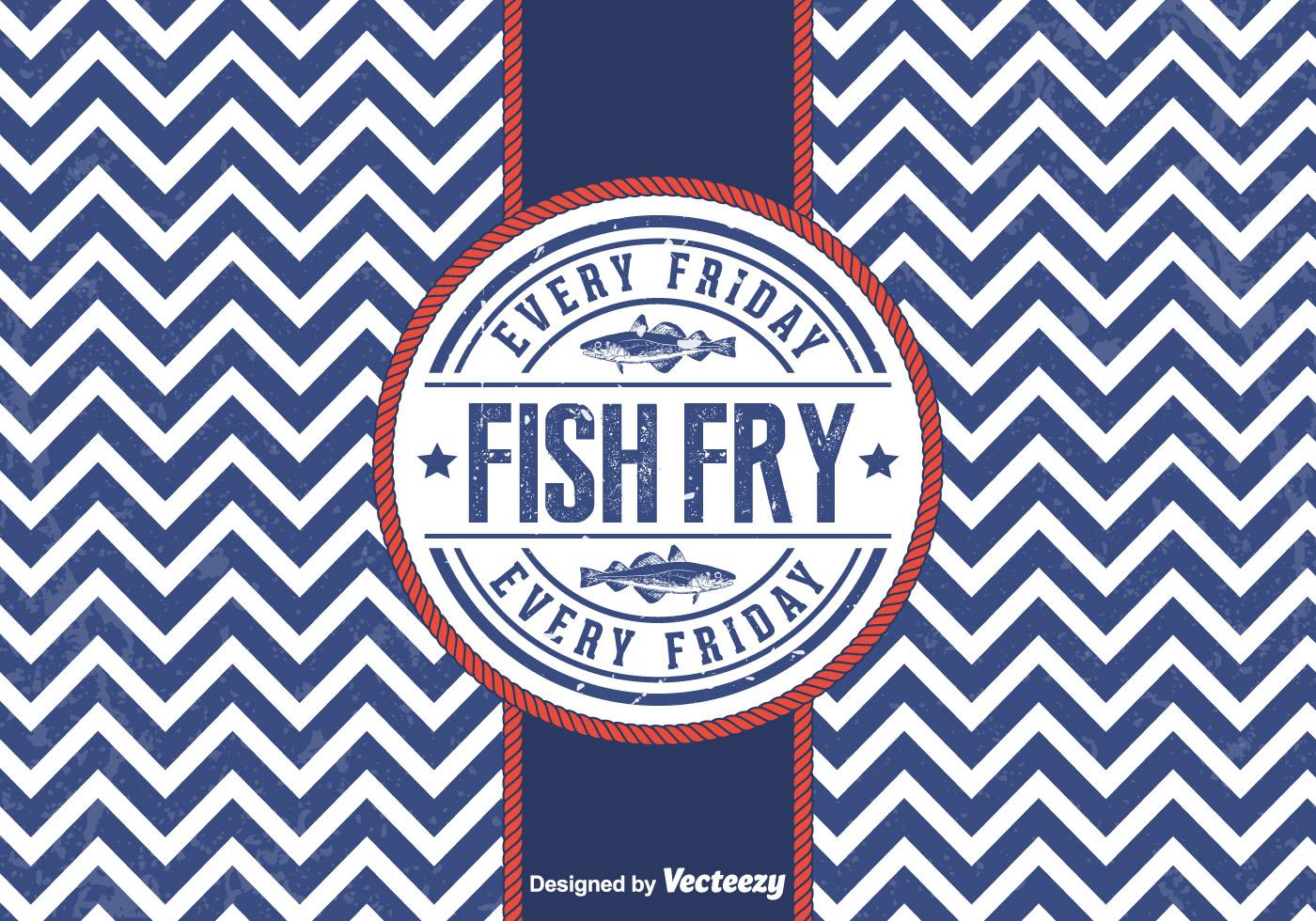 free vector friday fish fry badge