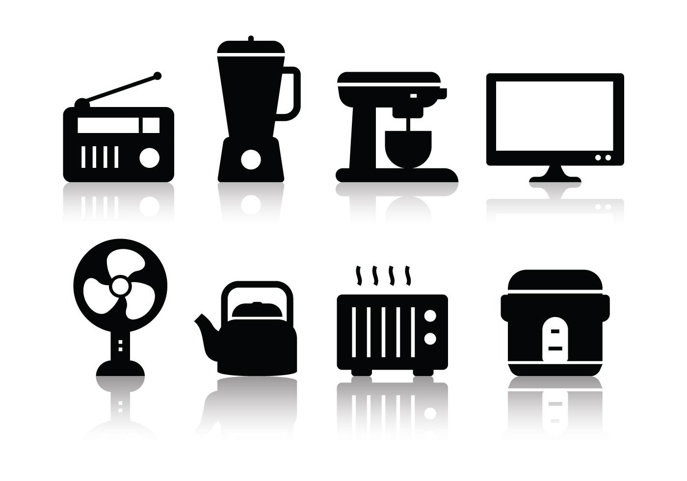 Free Minimalist Home Appliances Icon Set Download Free