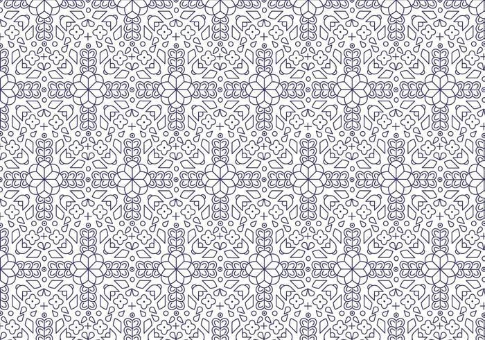 Dark Outline Pattern vector