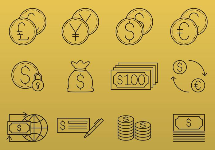 Money And Currency Icons vector