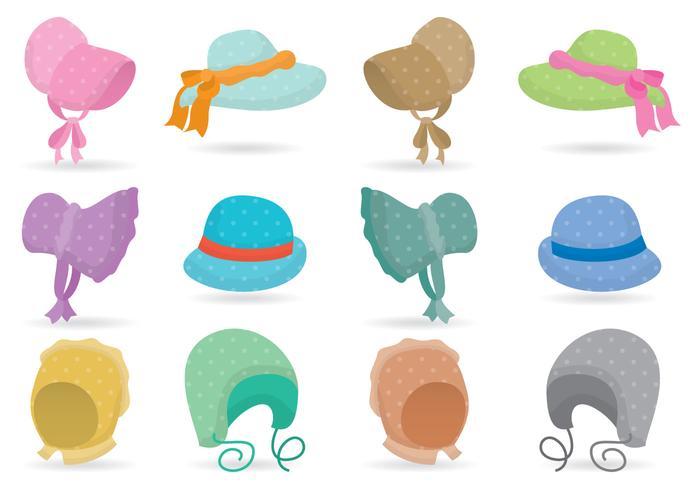 Färgglada Bonnetter