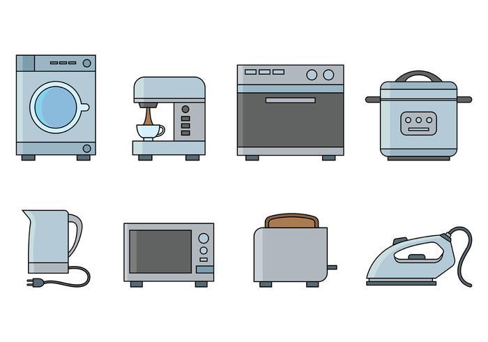 Set von Appliance Vector Icon