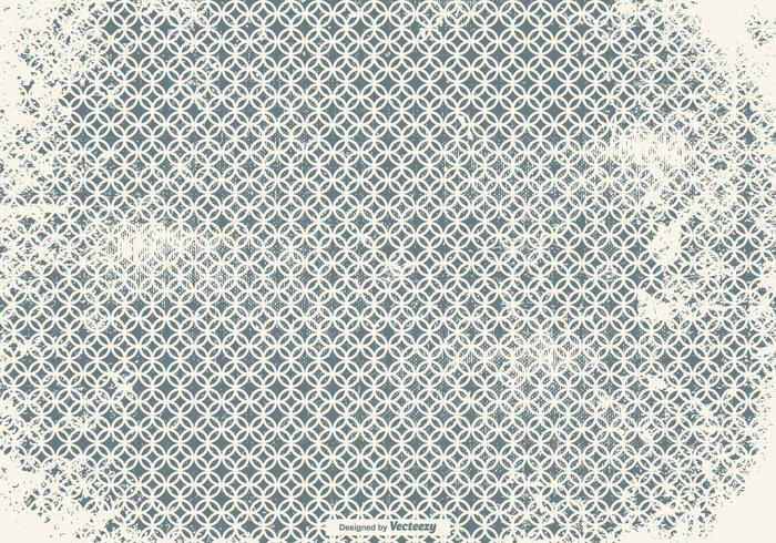 Grunge Style Chainmail Pattern Background
