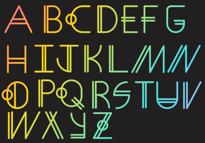 Letras - Geometrisches Set vektor