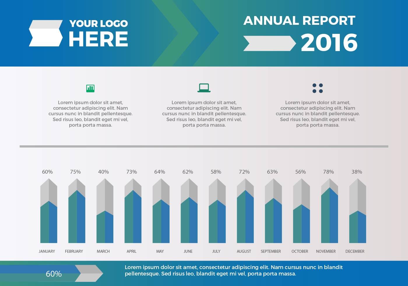 free annual report vector presentation 14