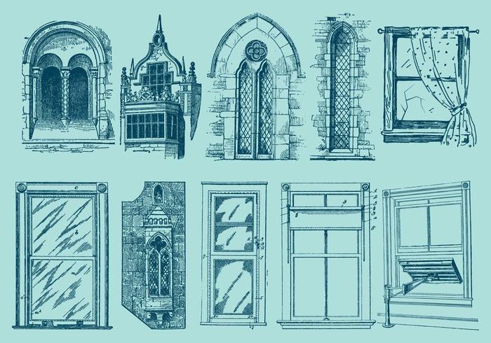 Desenhos de janelas