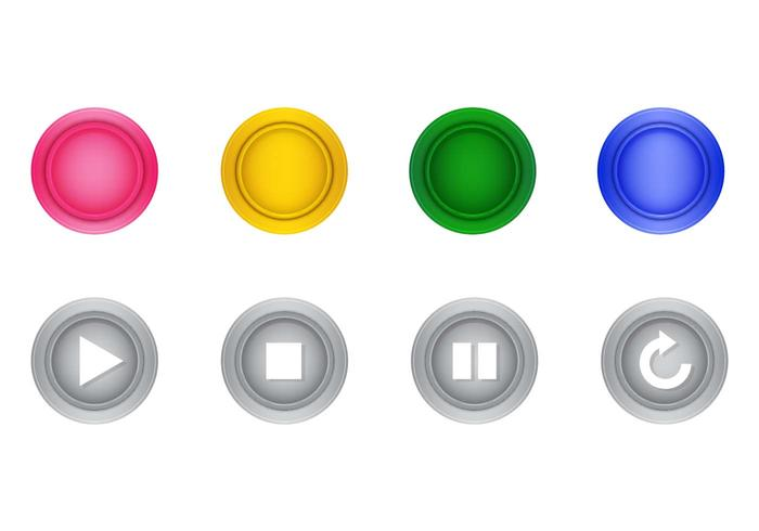 Free Arcade Button Realistic Vector