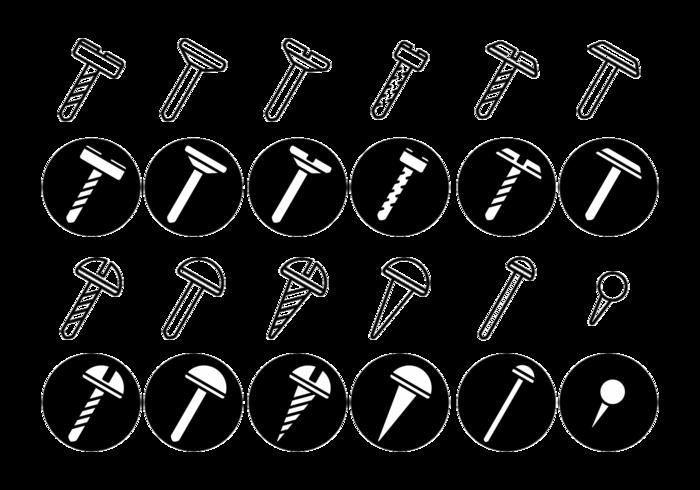 Screws / Nuts / Nail Vector Icon