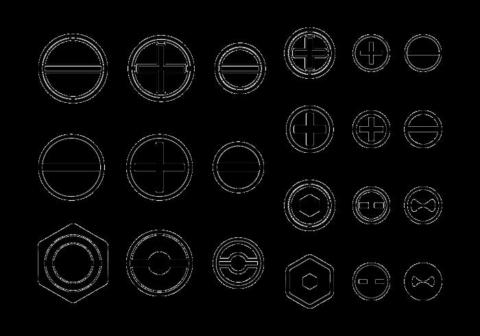 Skruvar / Nötter / Nail Vector Icon