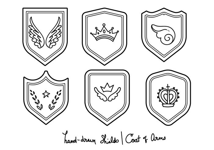 Blason - Hand-drawn Set vector