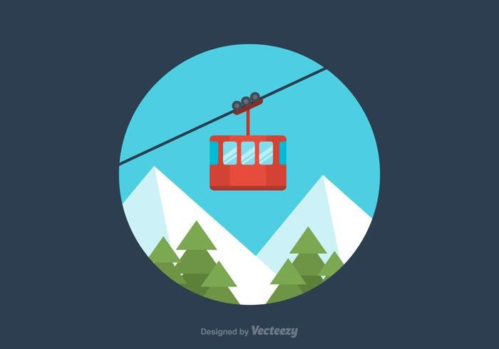 Free Flat Cable Car Vector