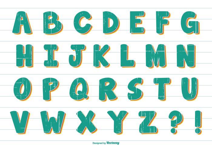Fun Comic Style Vector Alphabet