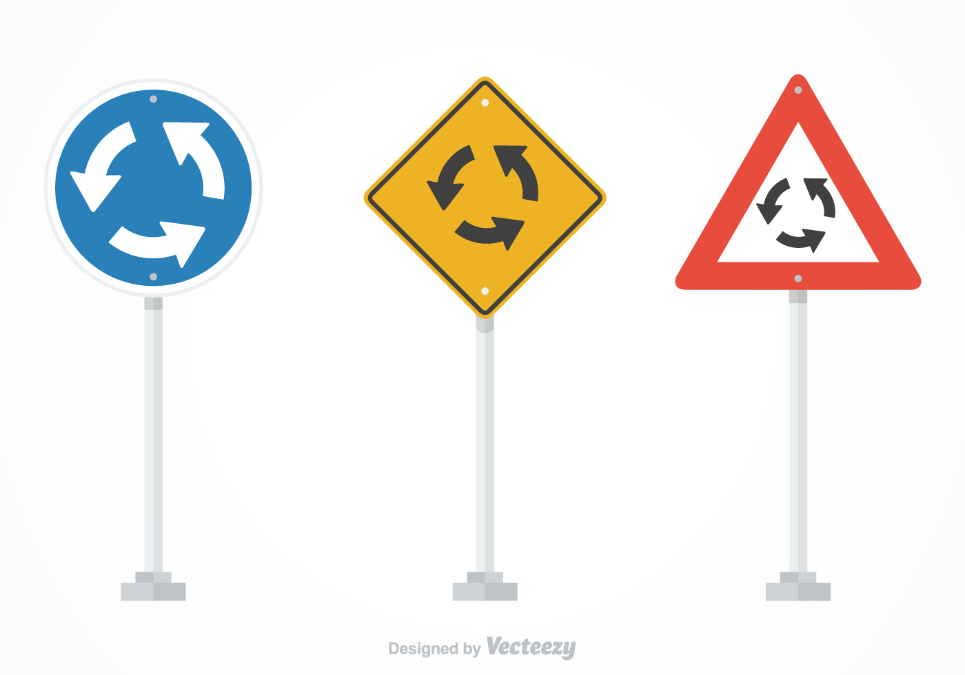 Free Vector Roundabout Traffic Signs - Download Free ...