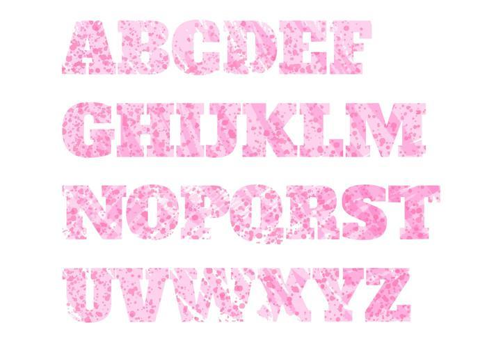 Conjunto de letras: stencil vector