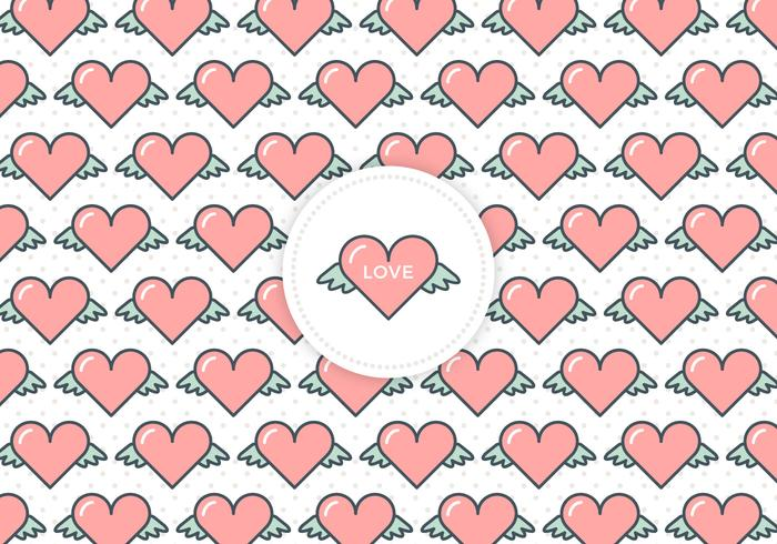 Free Flying Hearts Love Vector Background