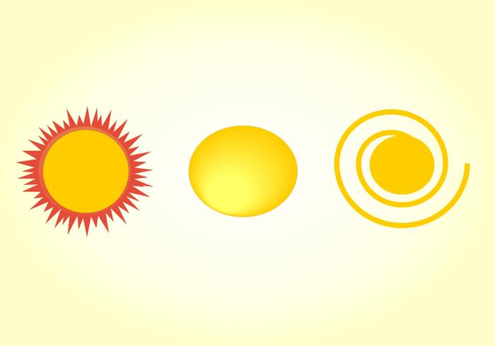Vintage sun vector clipart. Three suns.