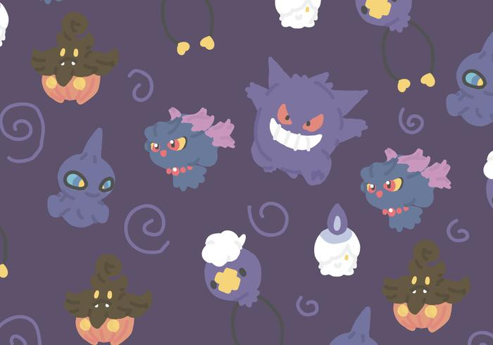 Ghost Type Pokemon vector