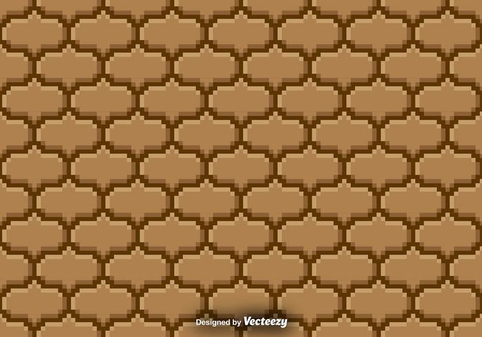 Pixelated Seamless Pattern - Vector background