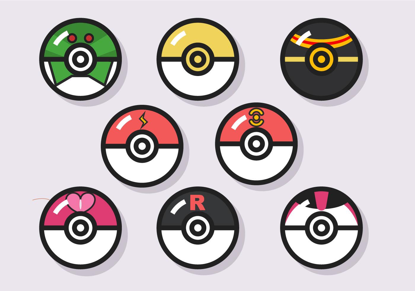 Pokemon coloring pages pokeball -  Pokemon Ball Vector