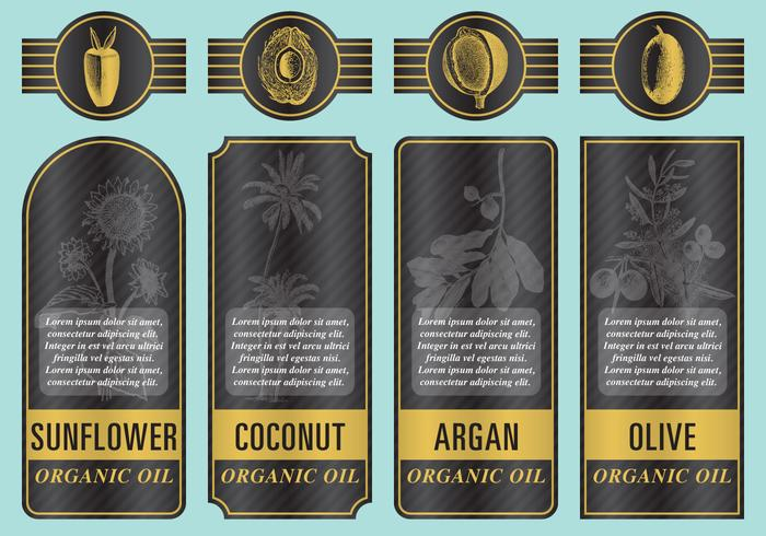 Organic Oil Labels