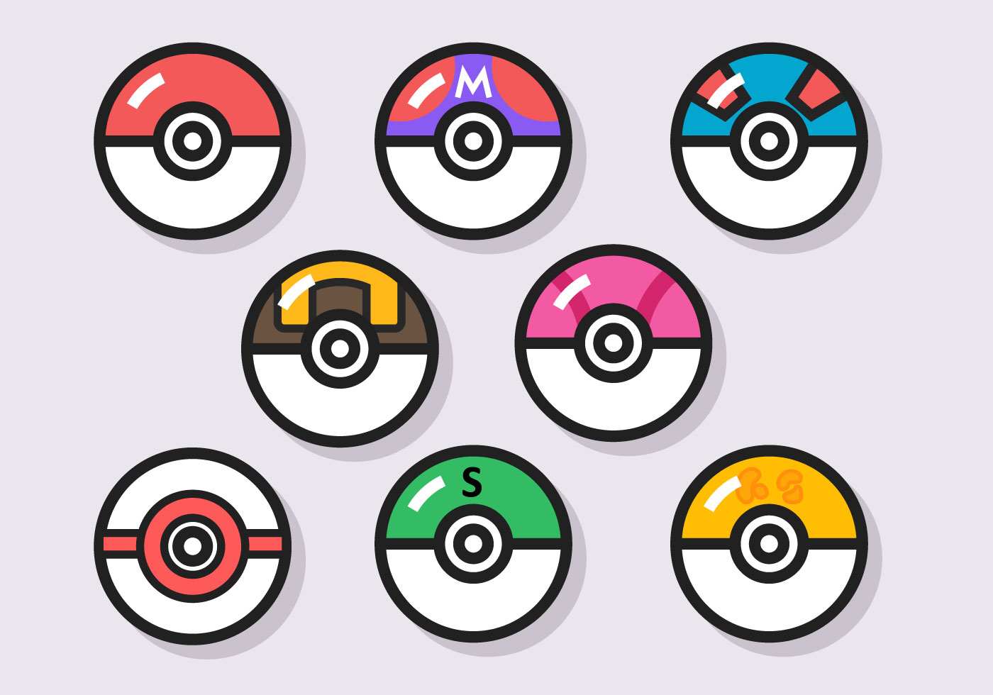 Numbered Ball Pokemon Images