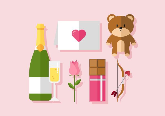 Vector Valentine Set