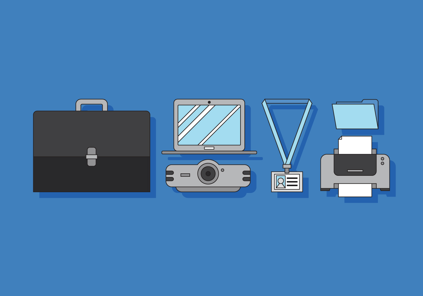 Vector Office and Business Elements - Download Free Vector Art, Stock