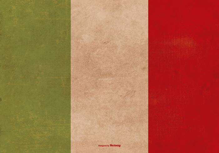 Grunge Bandera de Italia vector