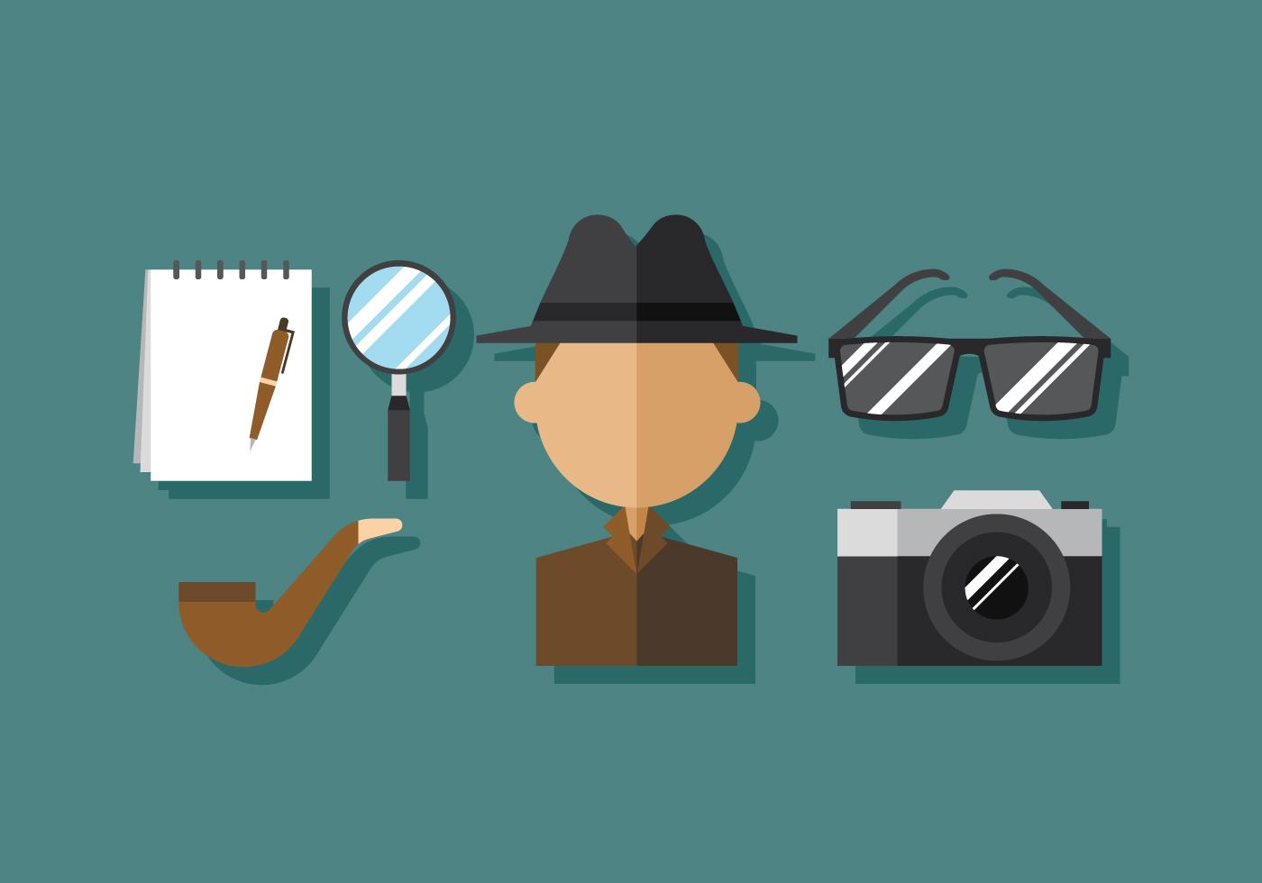 vector detective download free vector art stock