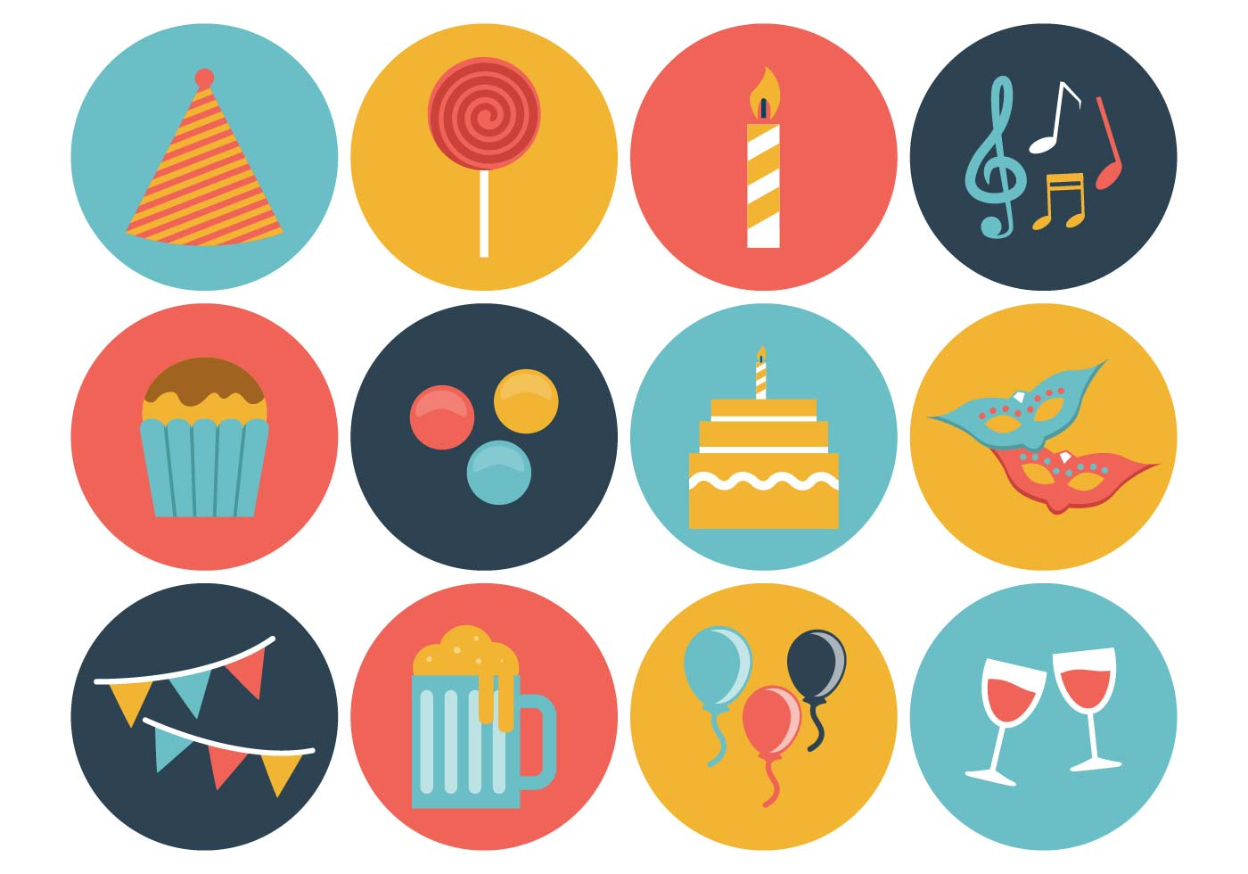 Free Birthday Icons Vector - Download Free Vector Art, Stock Graphics ...
