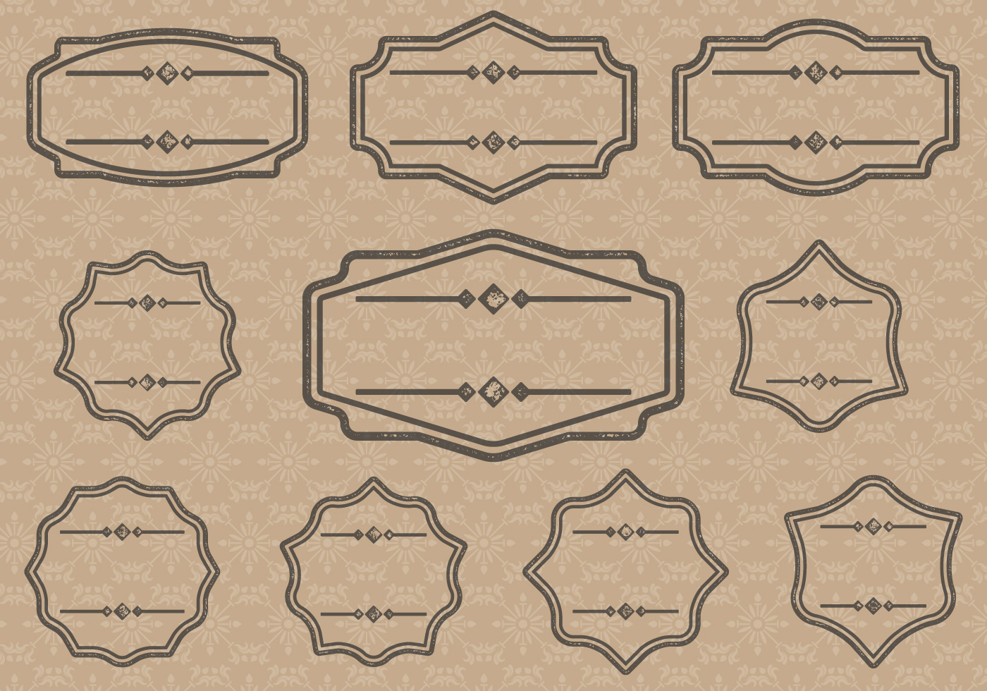 Vintage Label Cartouches - Download Free Vectors, Clipart ...