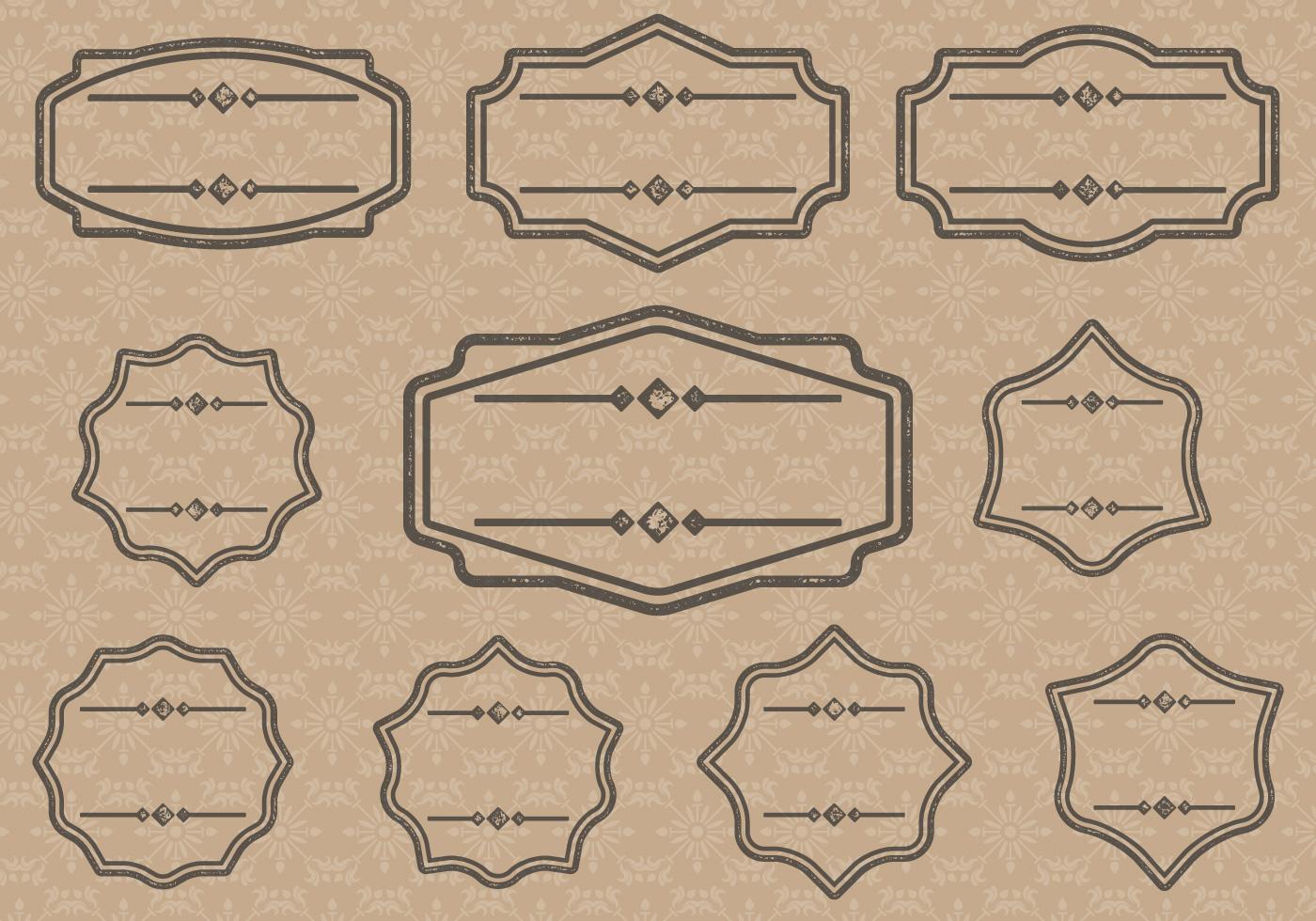 vintage label cartouches