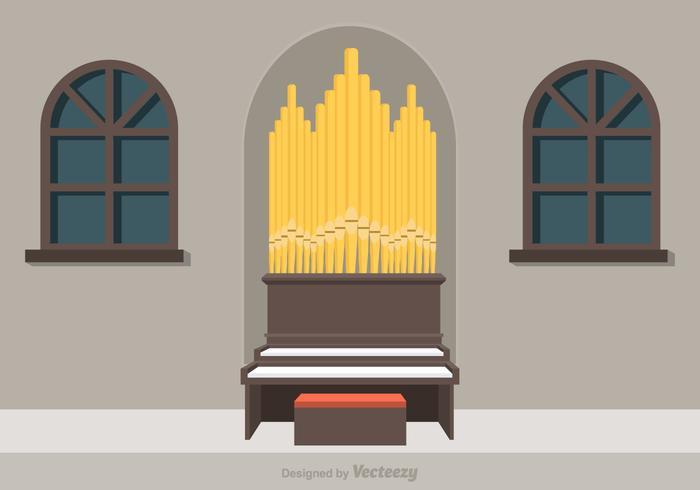 Free Pipe Organ Vector Illustration