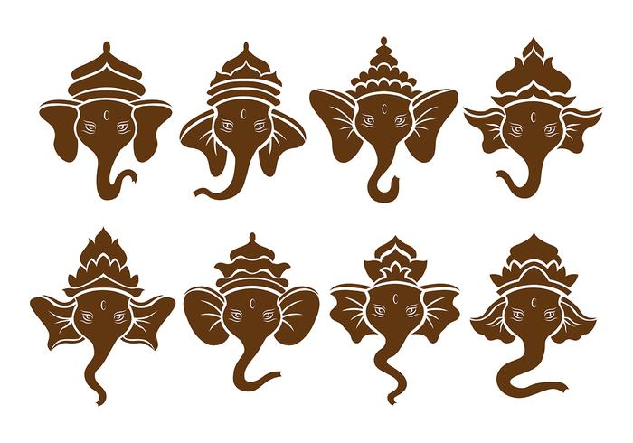 Brown Ganesh Icons