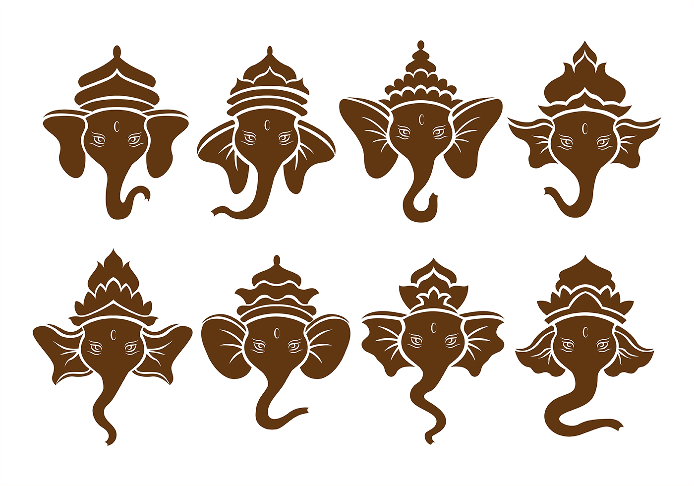 Ganesha outline symbol download free vector art stock graphics brown ganesh icons buycottarizona