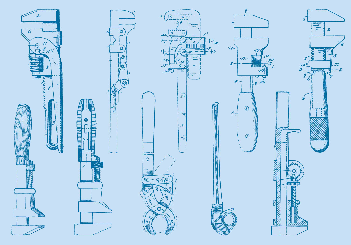 Box Wrench Clip Art Wrench Tool Drawings -...