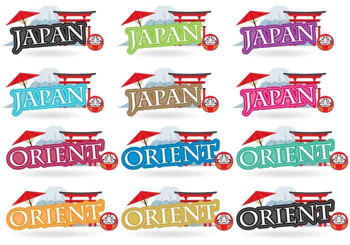 Títulos de Japón vector