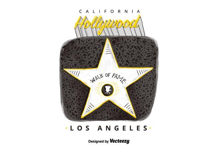 Vettore gratuito di Hollywood Walk Of Fame