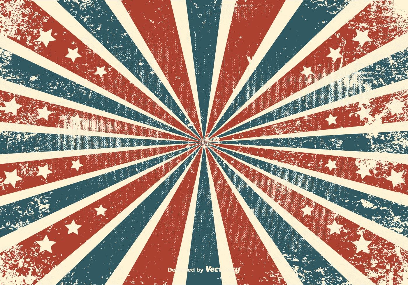 Grunge Sunburst Background With Stars - Download Free ...