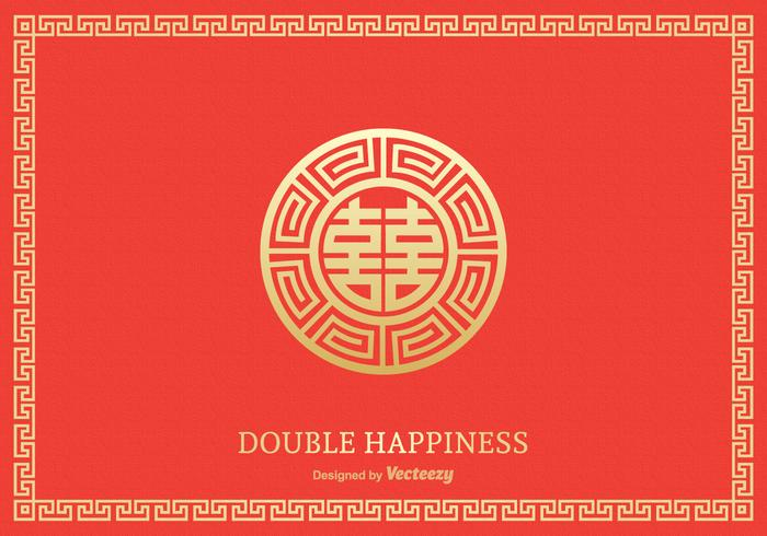 Free Double Happiness Symbol Vector Design Download Free Vector