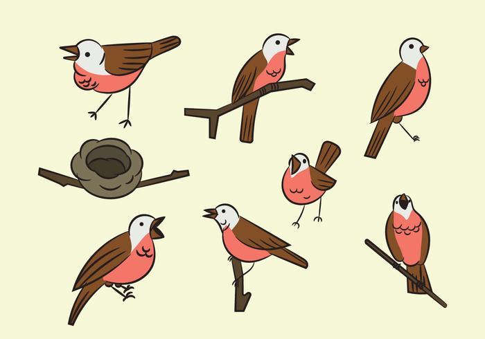 Gratis Cartoon Nightingale Bird