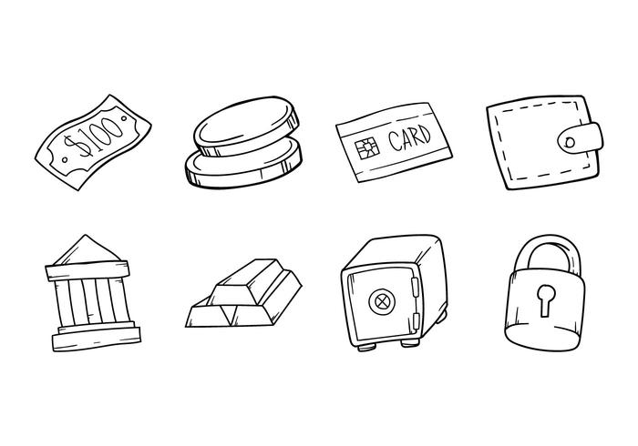 Free Hand Drawing Bussines Icon vector