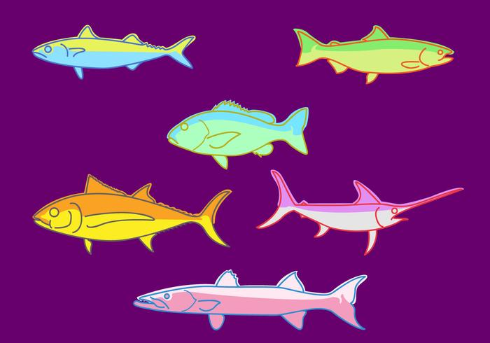 Fishes Illustration Vector