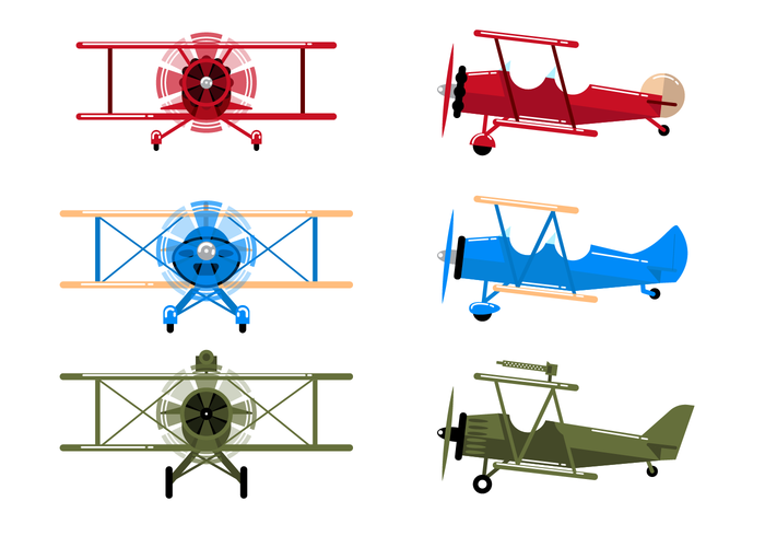free biplane vector download free vector art stock graphics images rh vecteezy com Animated Airplane Clip Art Free Red Bi Plane Clip Art Free